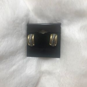 Vintage Silver & Gold Tone Clip-on Earrings